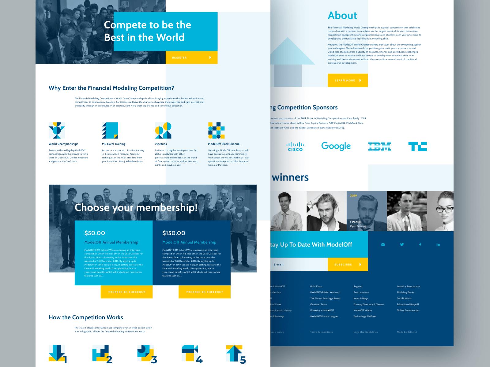 ModelOff Web Page Design and Development