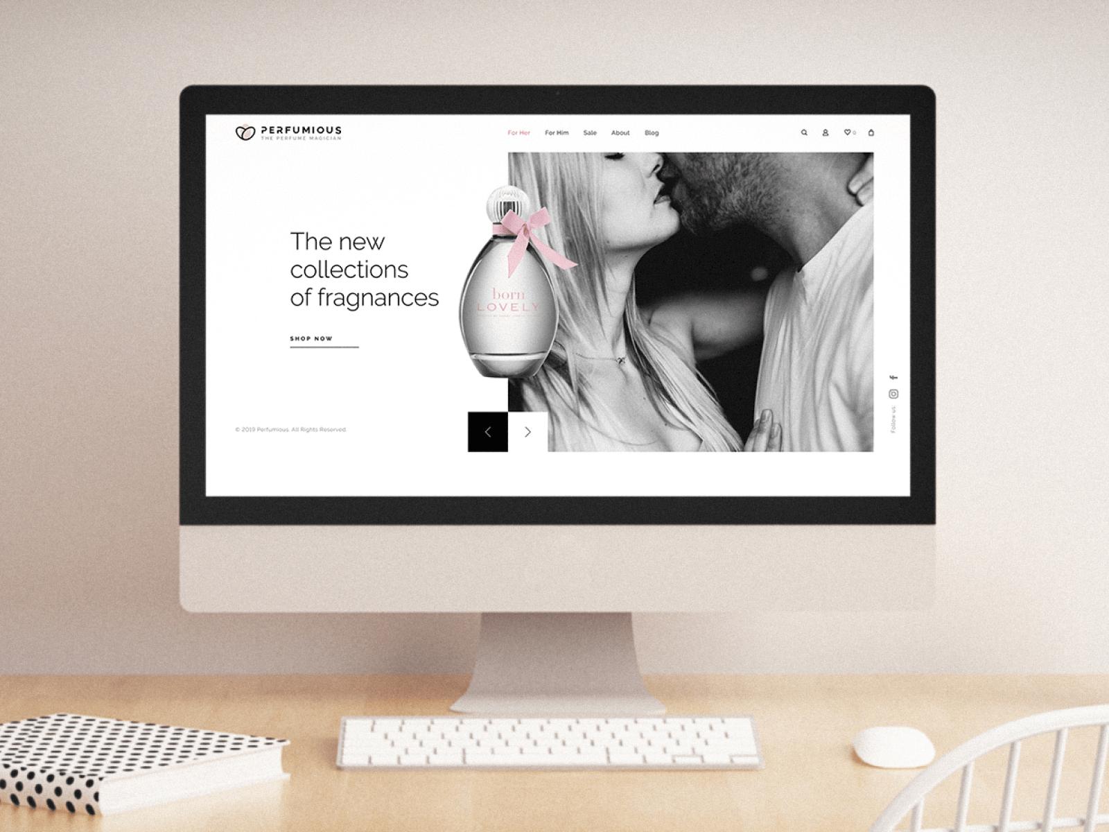 Perfumious Web Page Design