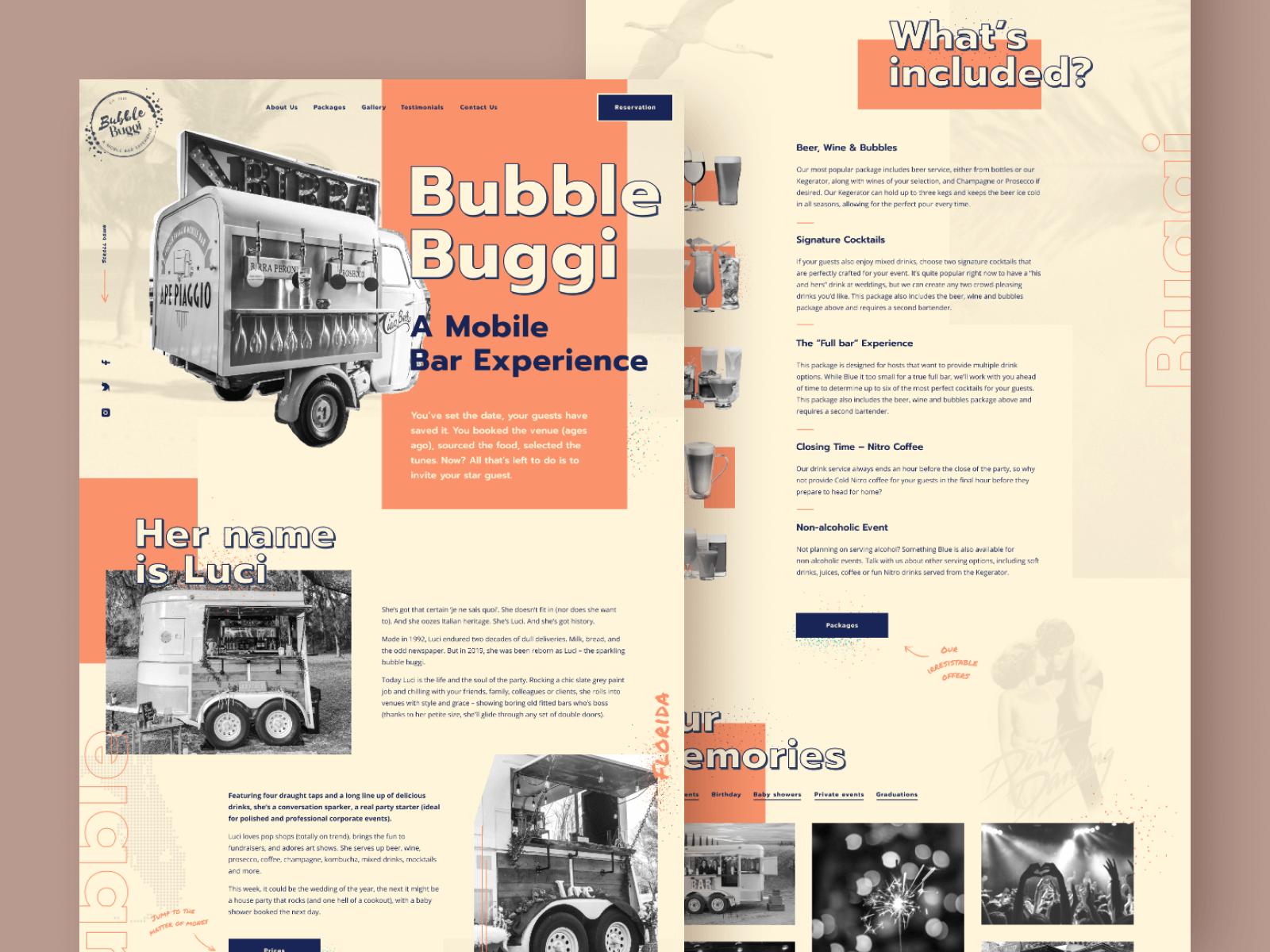 Bubble Buggi Web Design