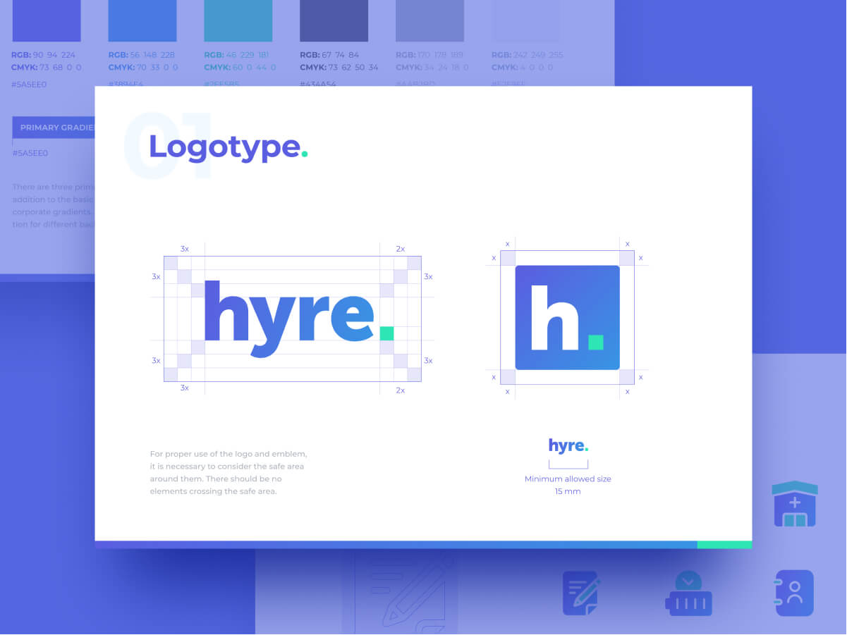Hyre Booking Logo Guidelines and Branding