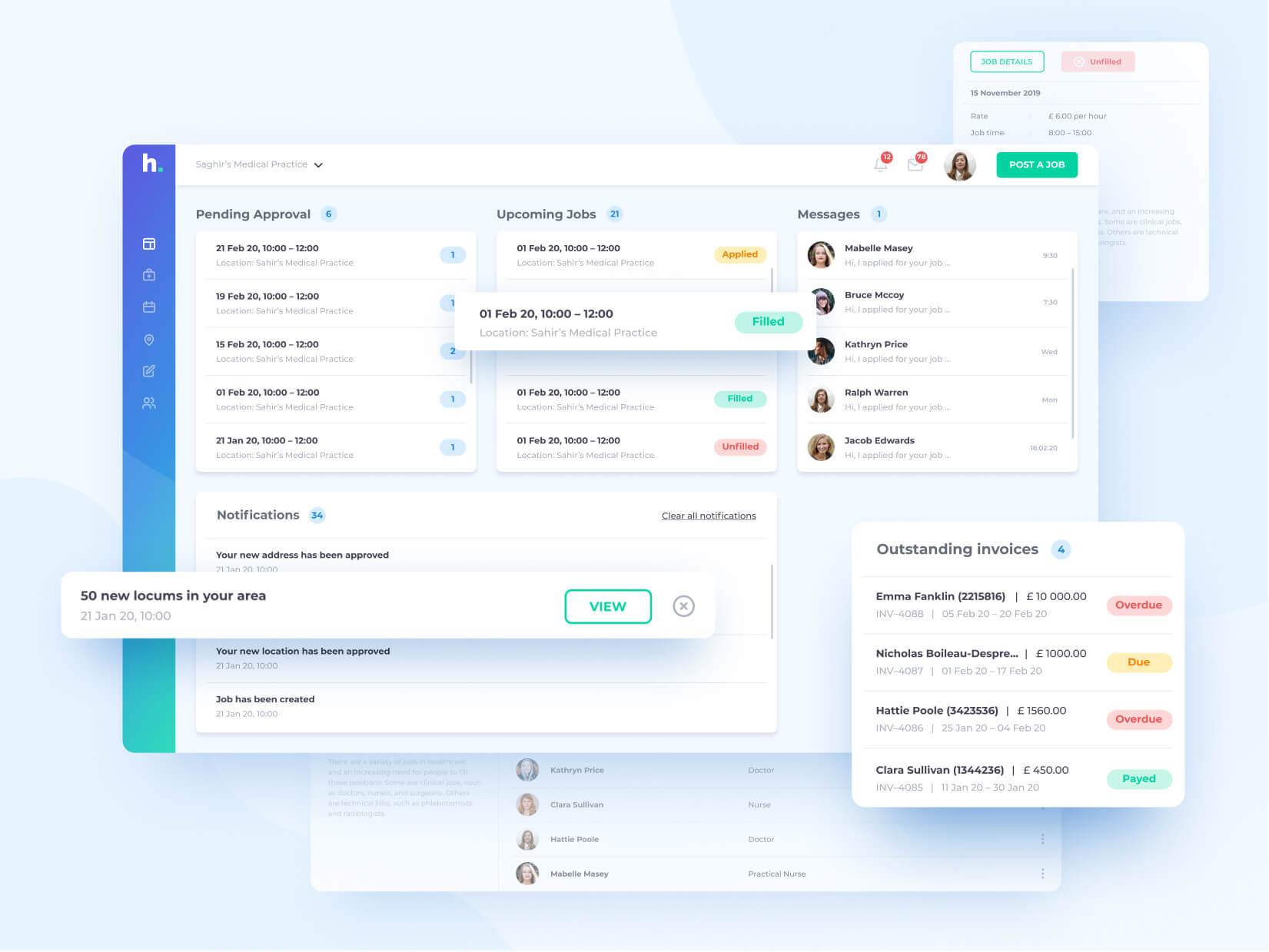 Hyre Web App Screen Design