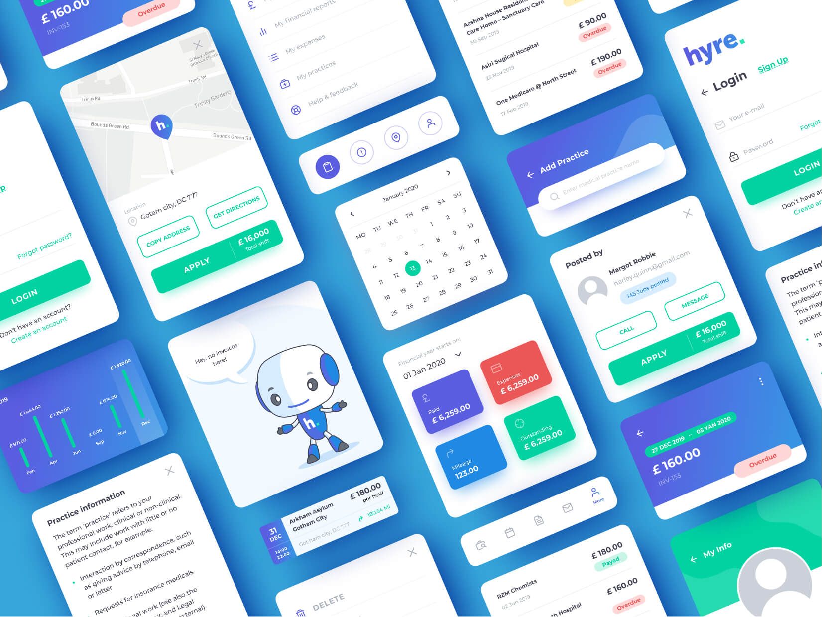 Hyre Mobile App Screen Design