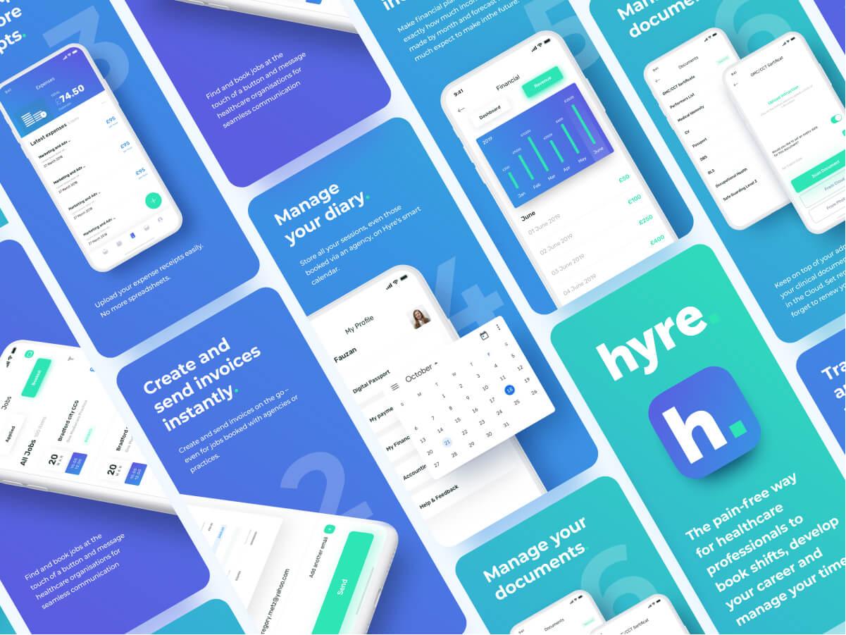 Hyre Mobile Screen Design
