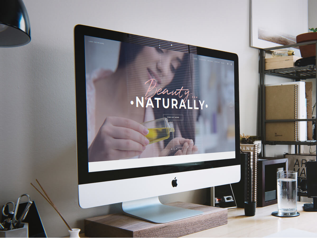Lani Skincare Natural Beauty Products Website Design and Development