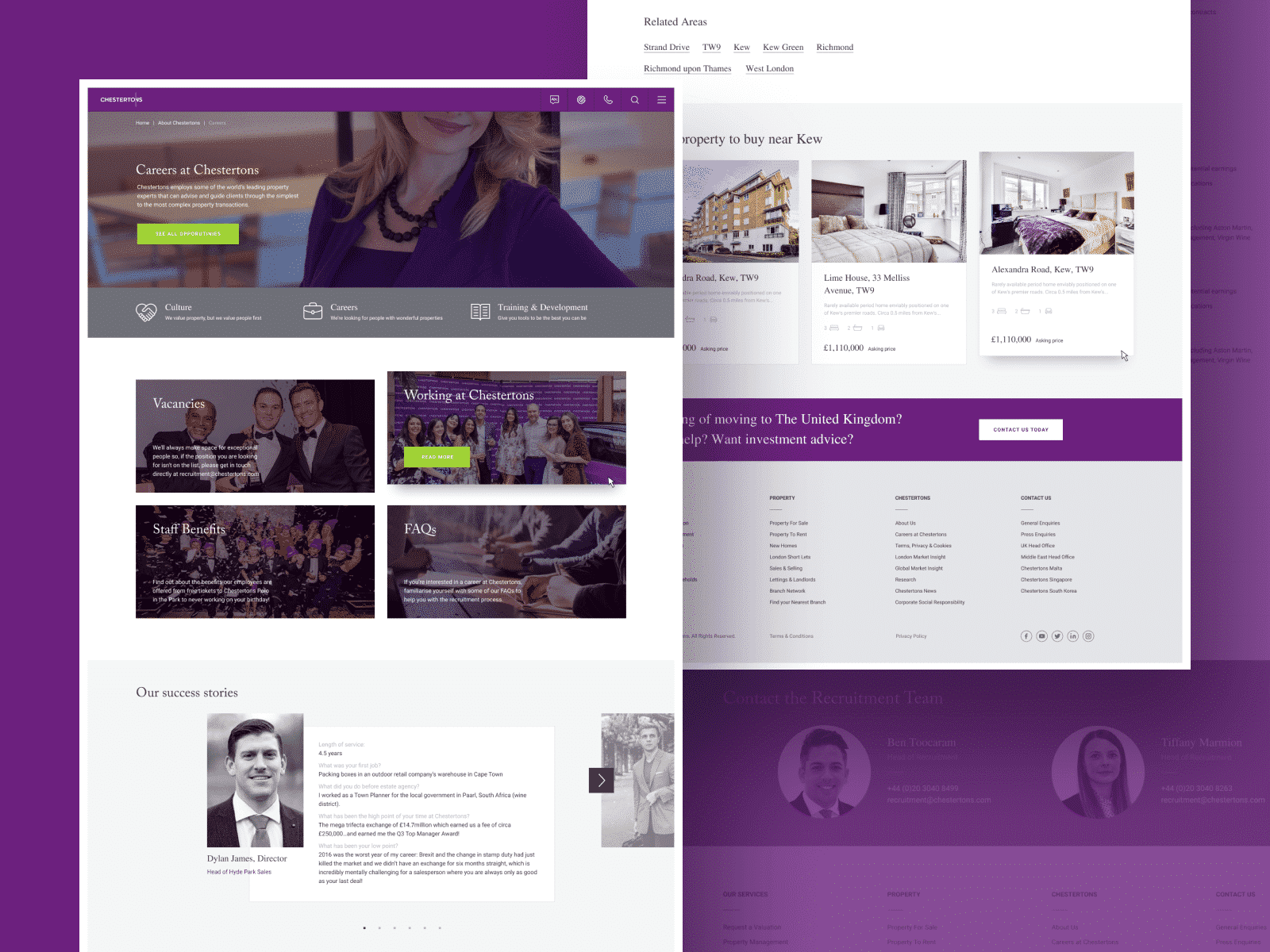 Chestertons Website Page Design