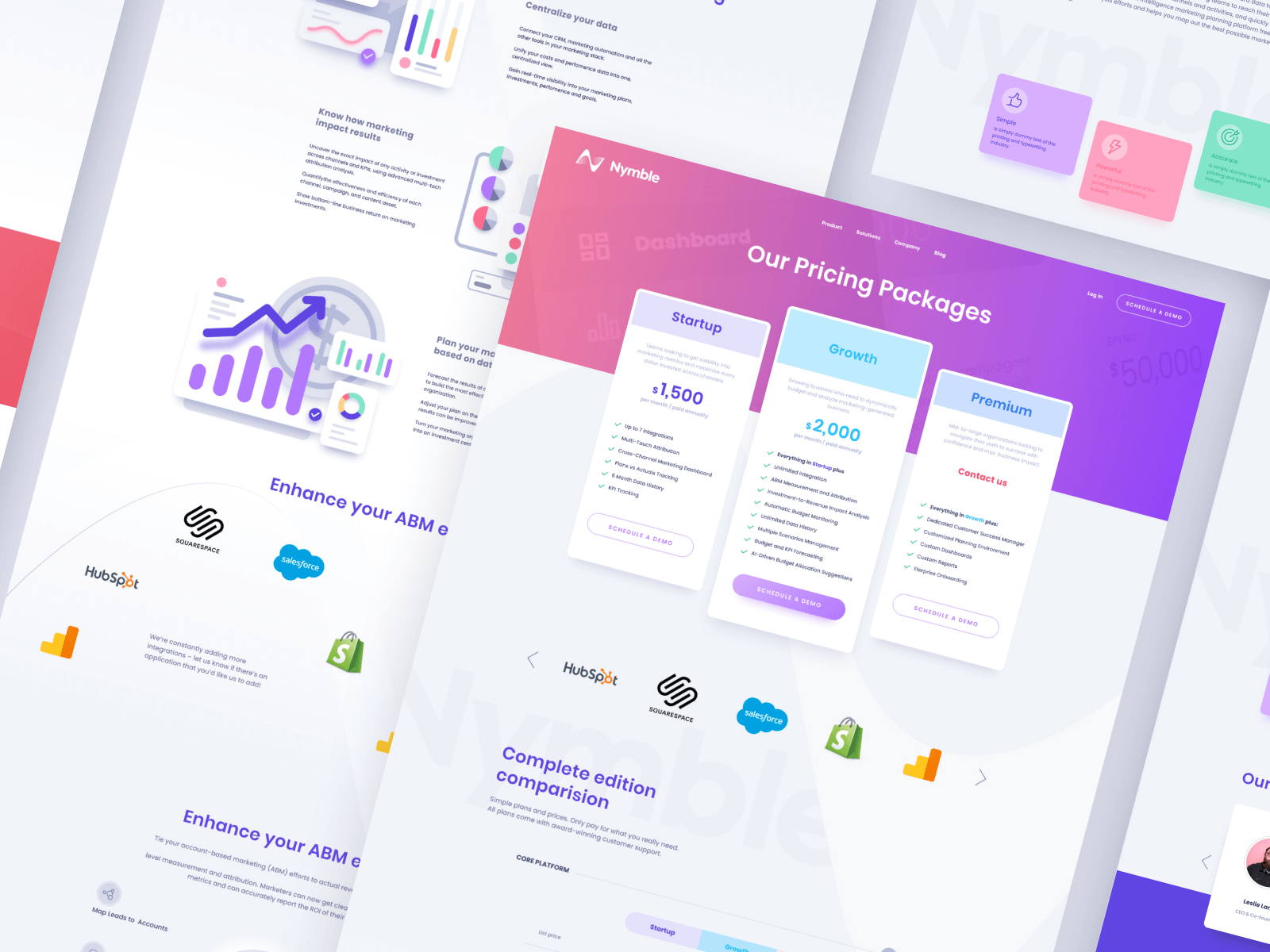 Nymble Website Design