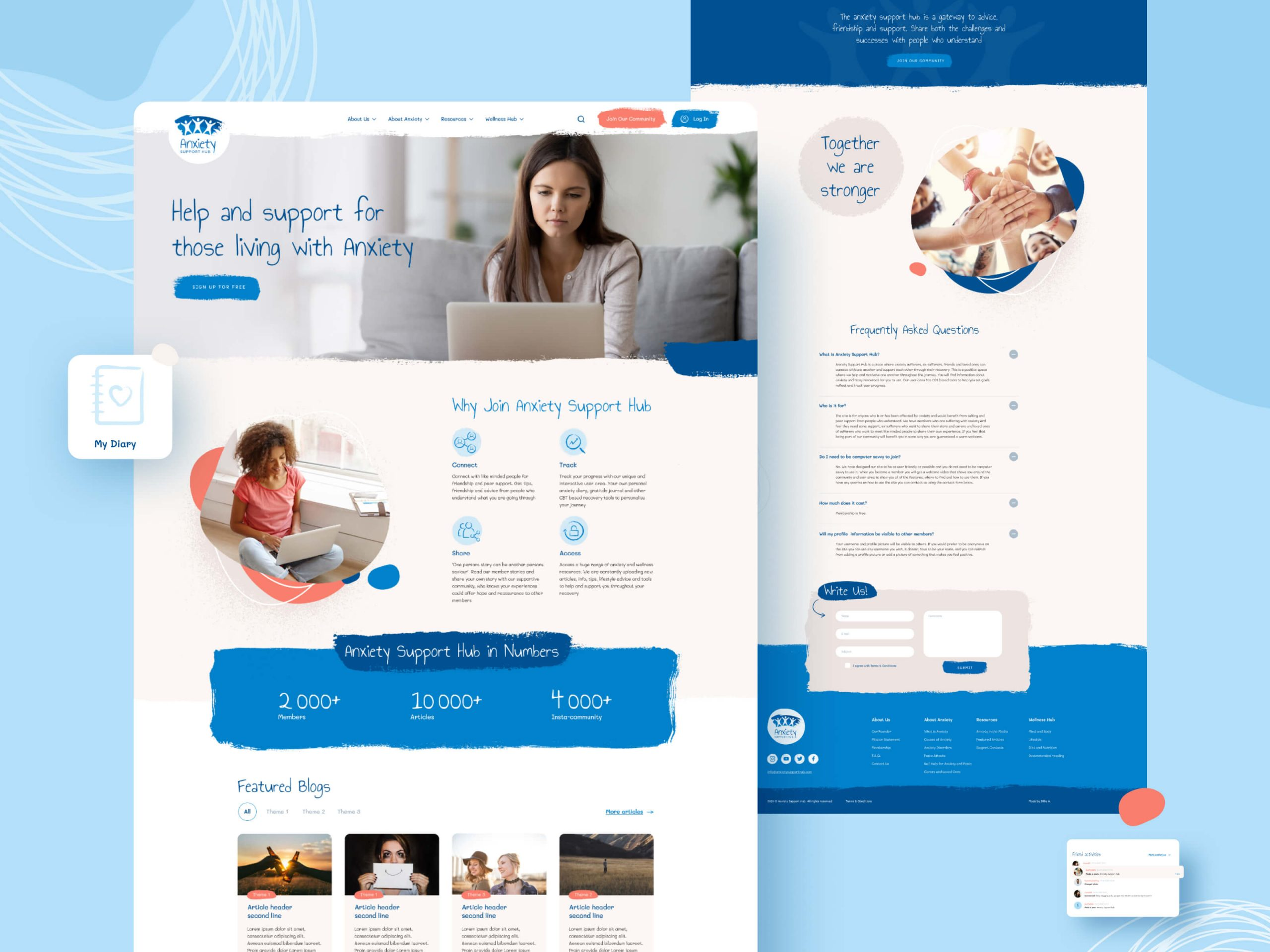 Anxiety Support Hub Website Design