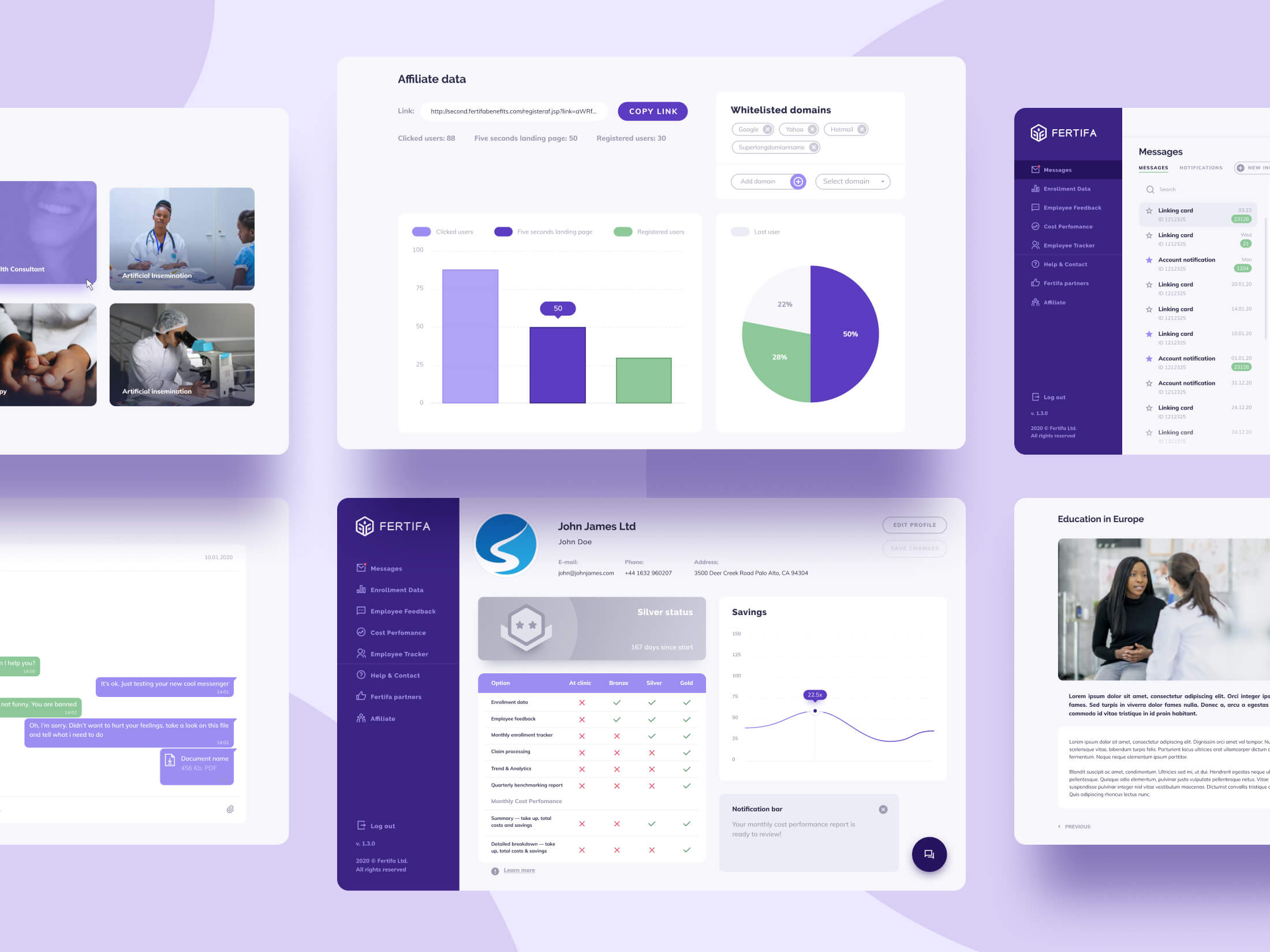 Fertifa Web App Design