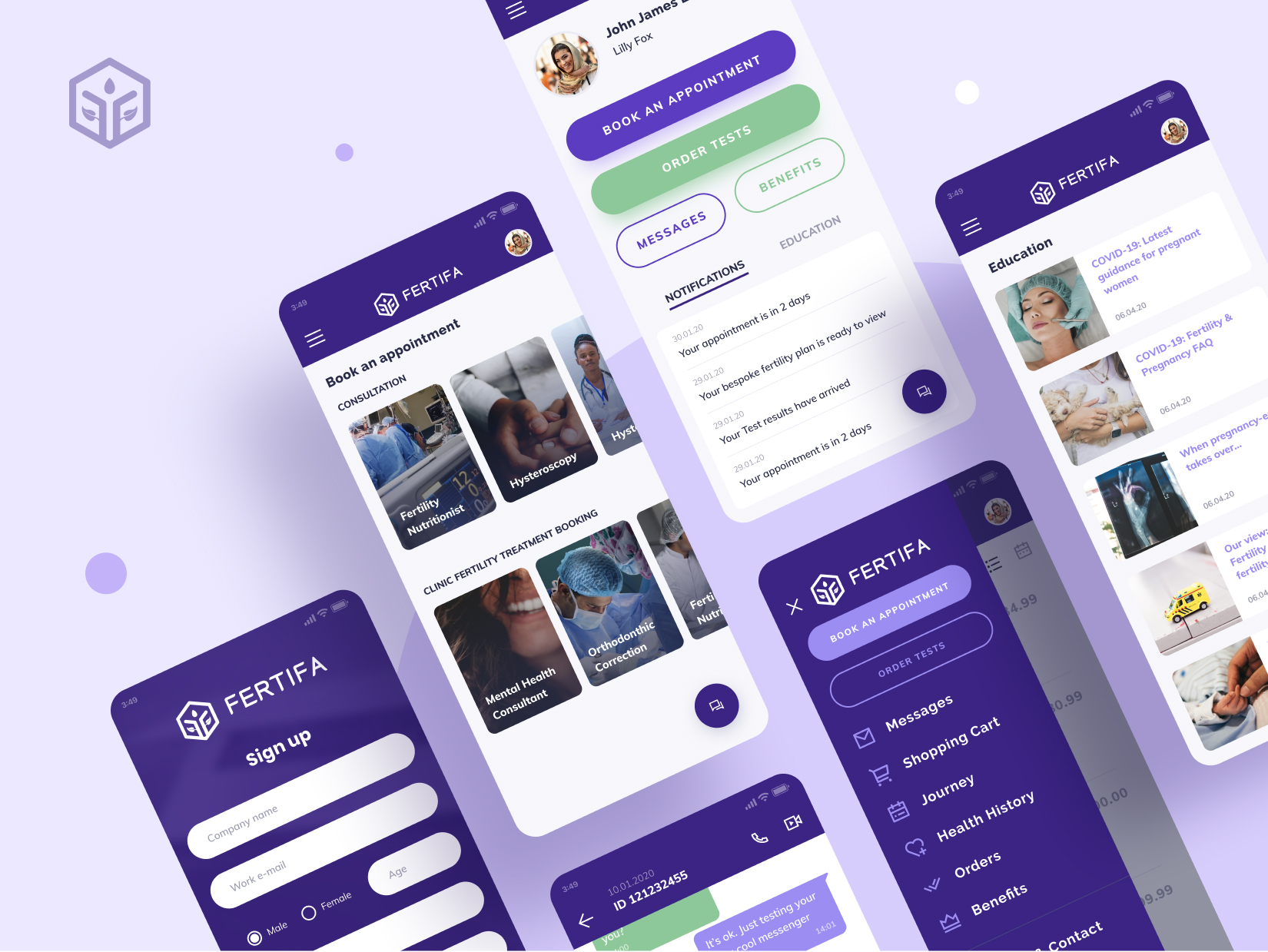 Fertifa Mobile App Design