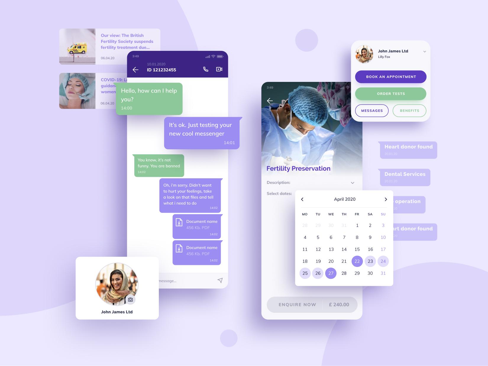 Fertifa Mobile App Design