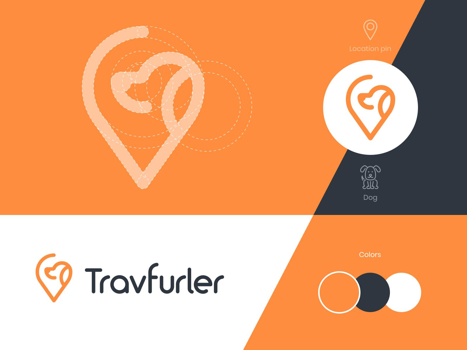 Travfurler Logo Design