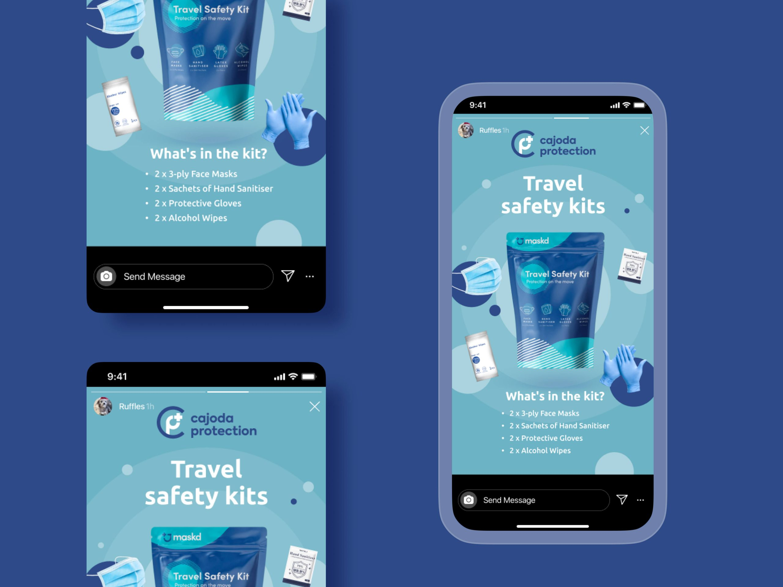 Cajoda Protection Instagram Story Ad Design