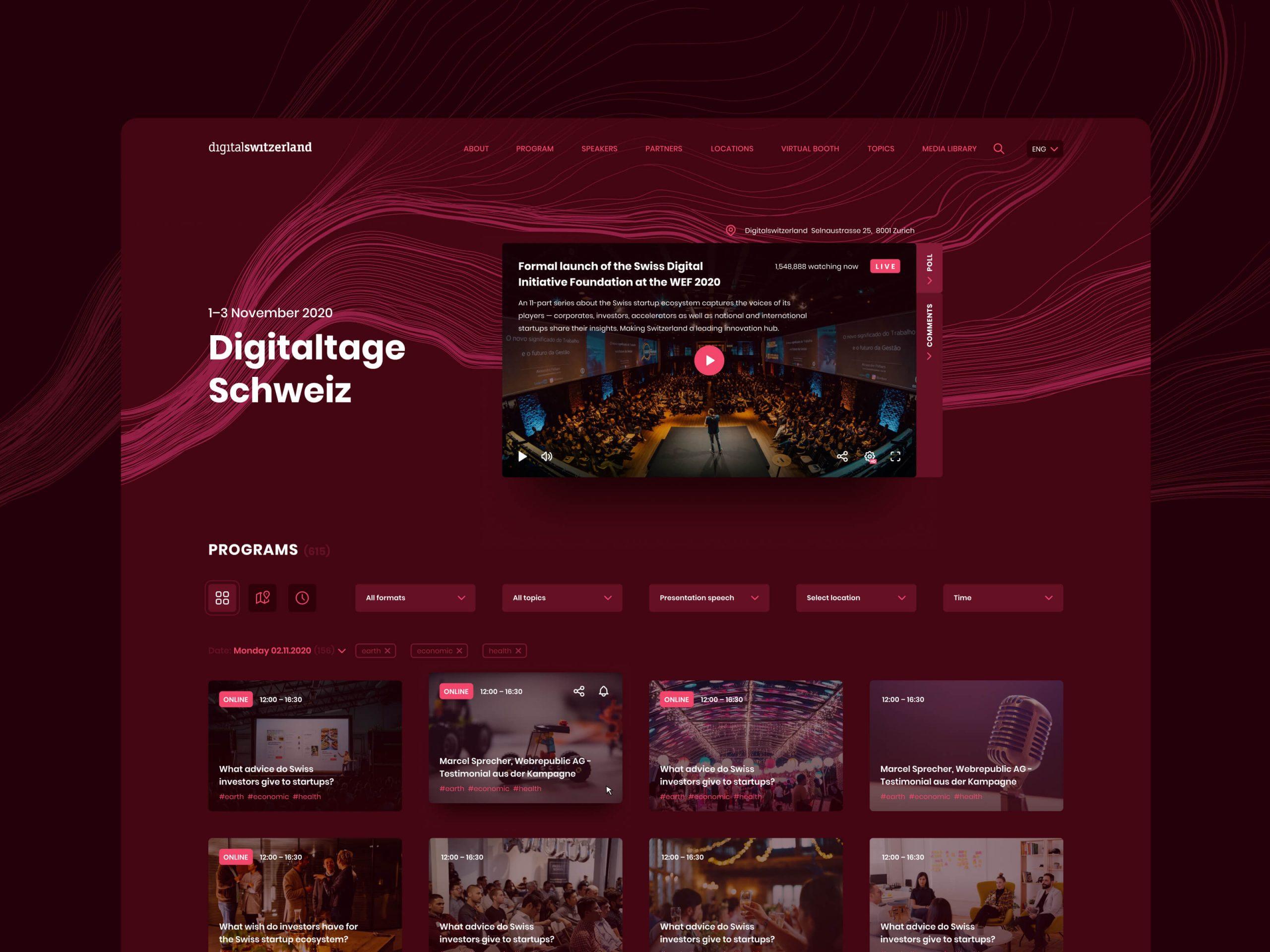 Digital Switzerland Website Page Design