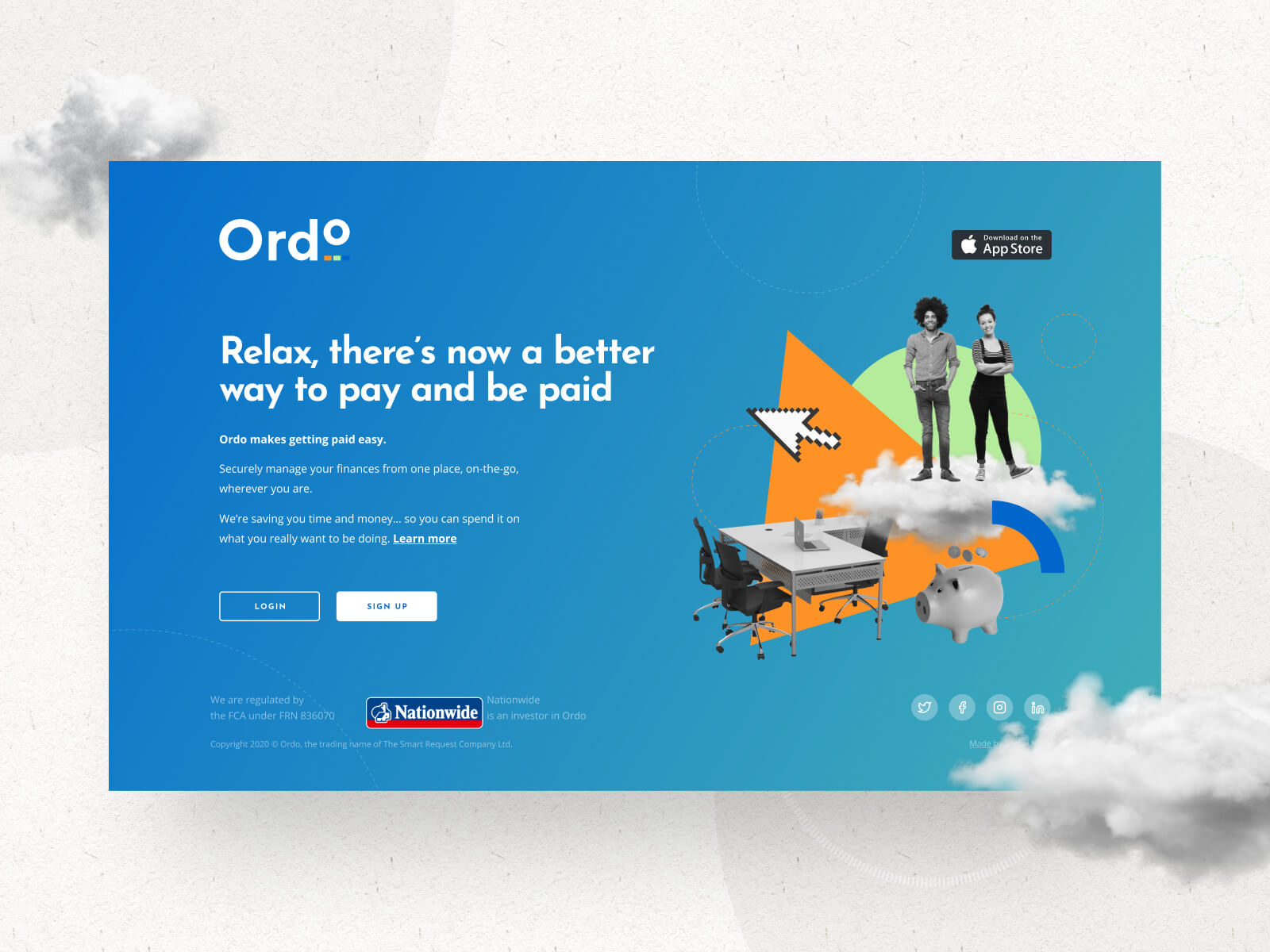 Ordo Web App Landing Page Design