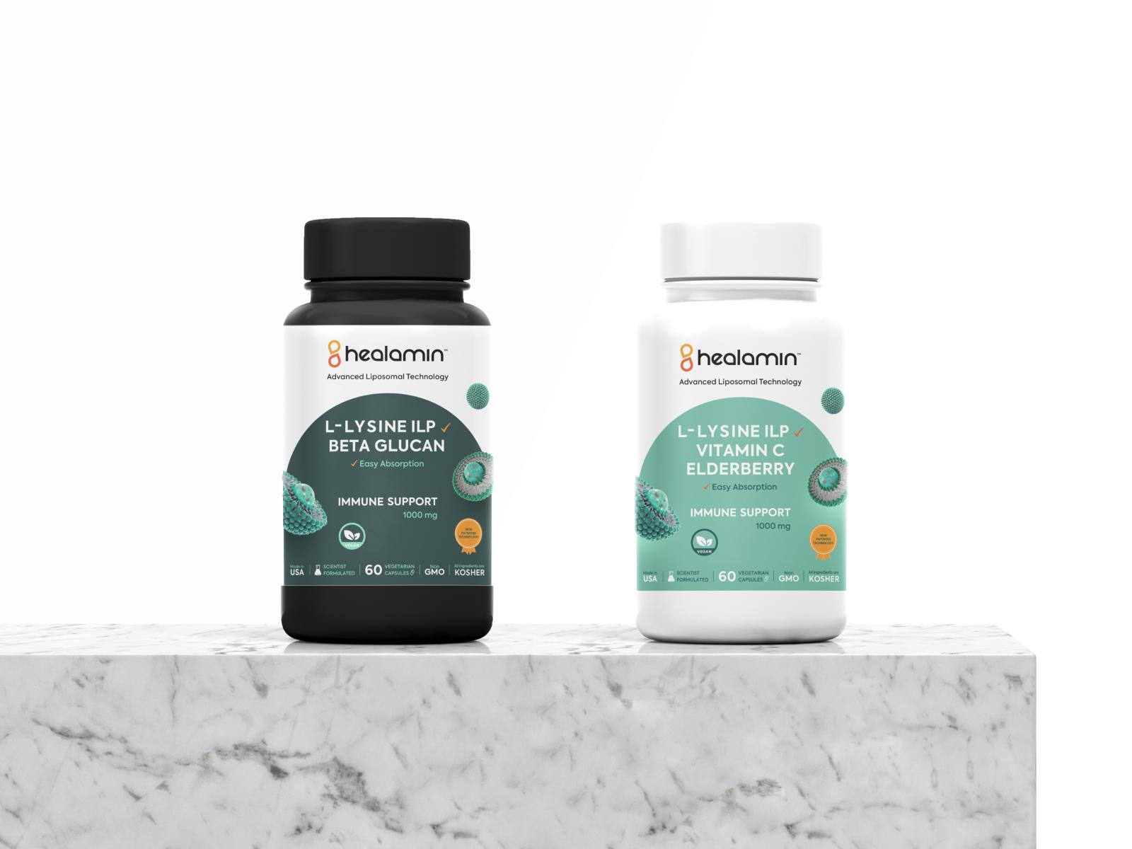 Healmin Supplements Packaging Design