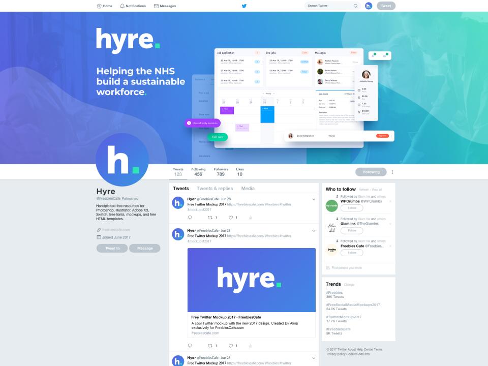 Hyre Twitter Banner Design