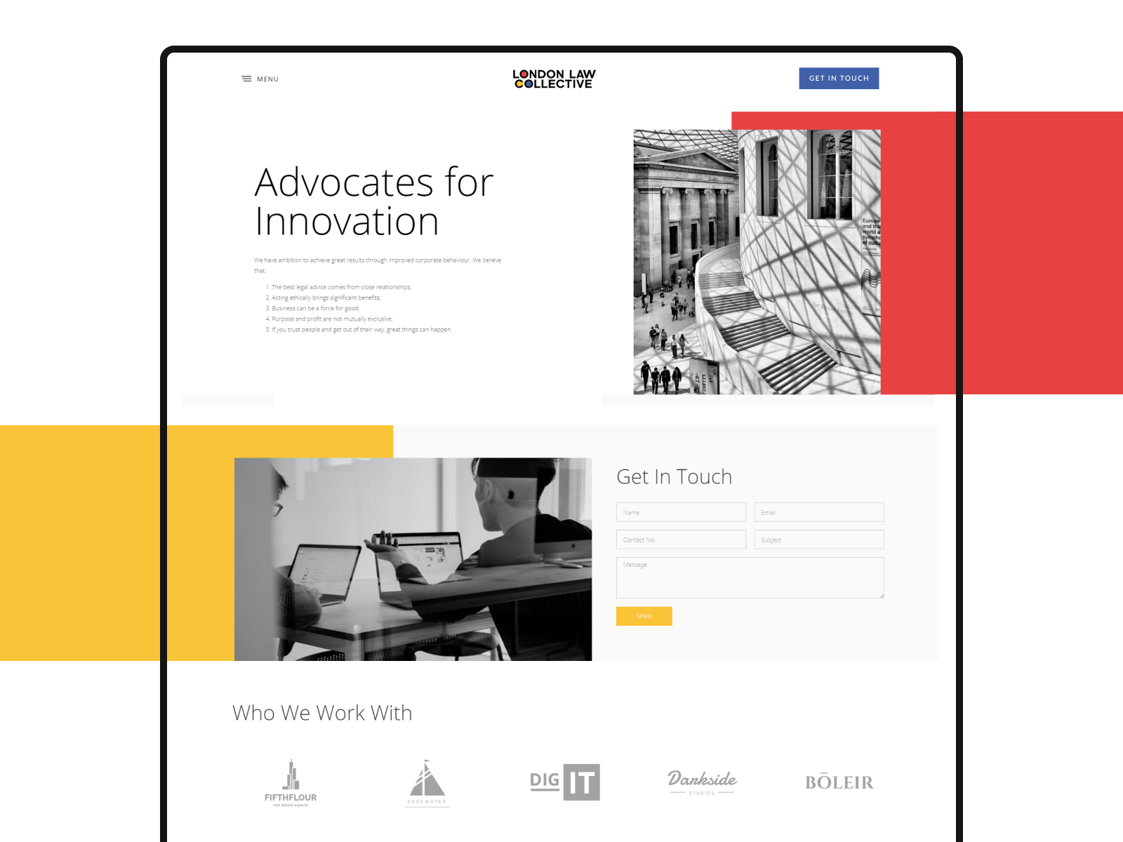 London Law Collective Website Design and Development