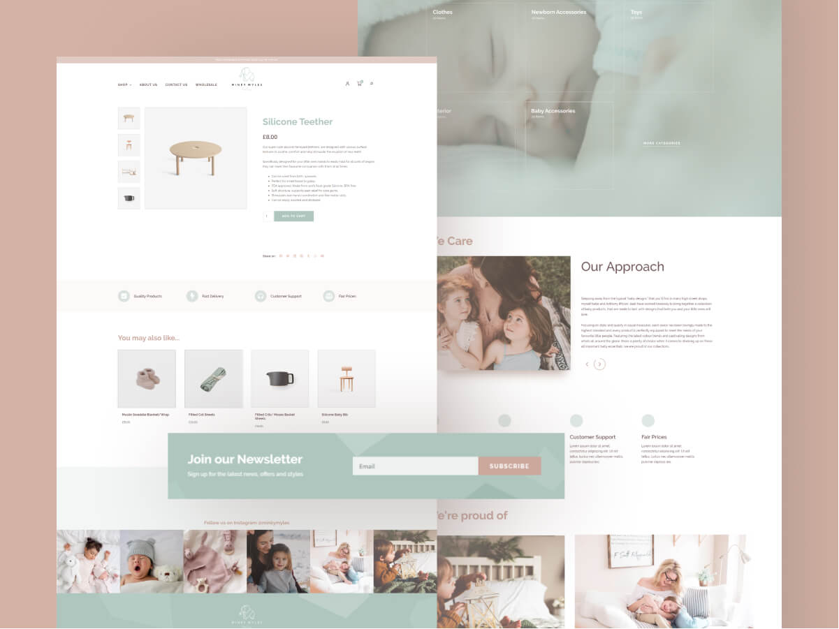Minky Myles Website Design and Development