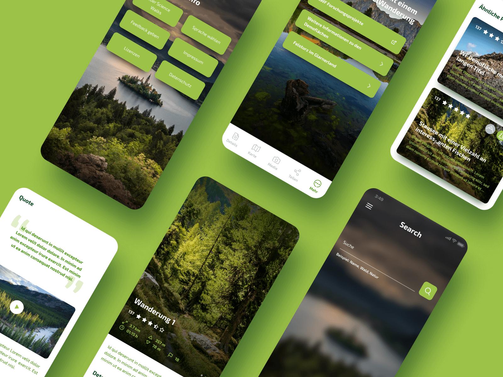 Science Walks Mobile App Design