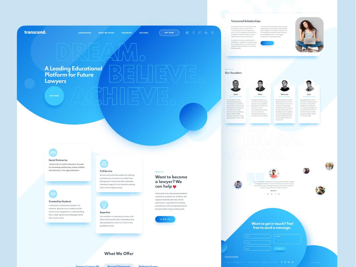 Transcend Website Design