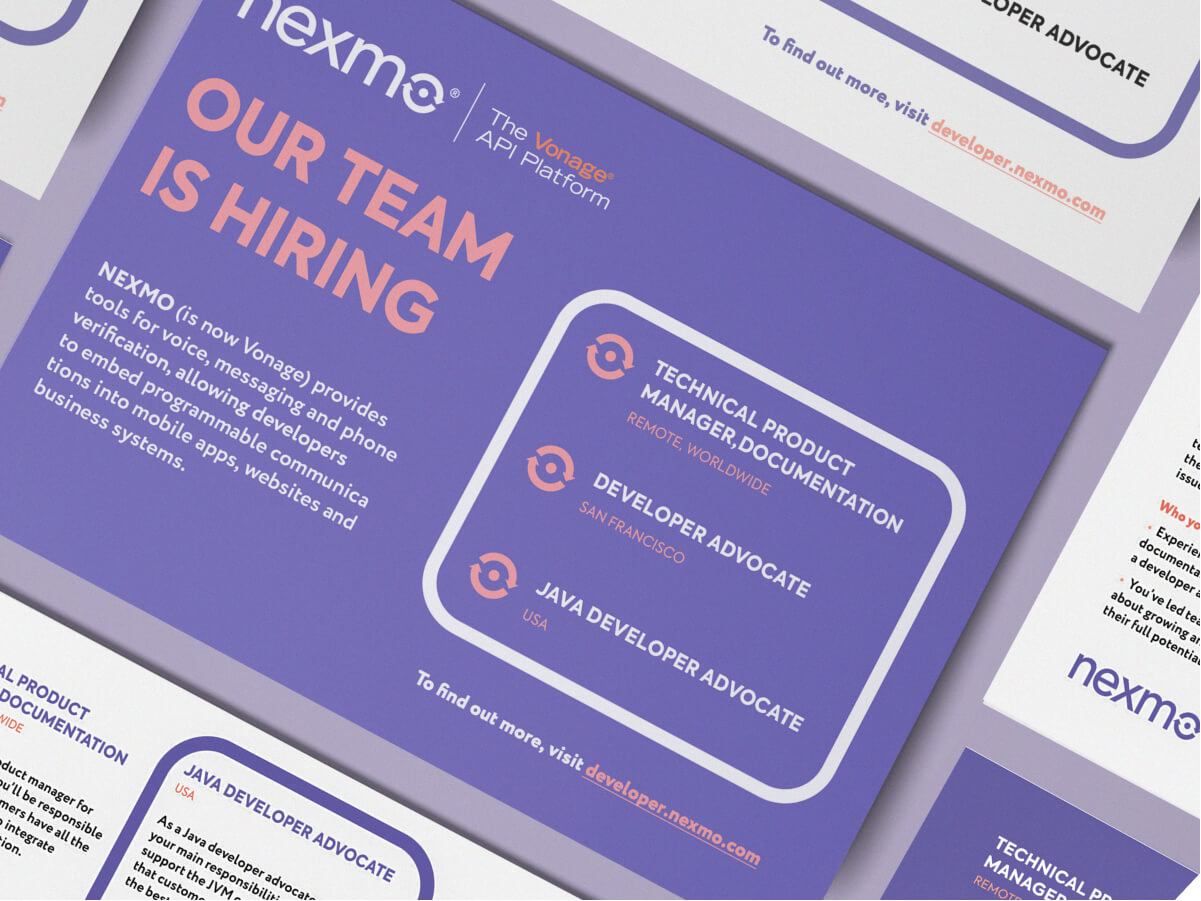 Nexmo Flyer Design