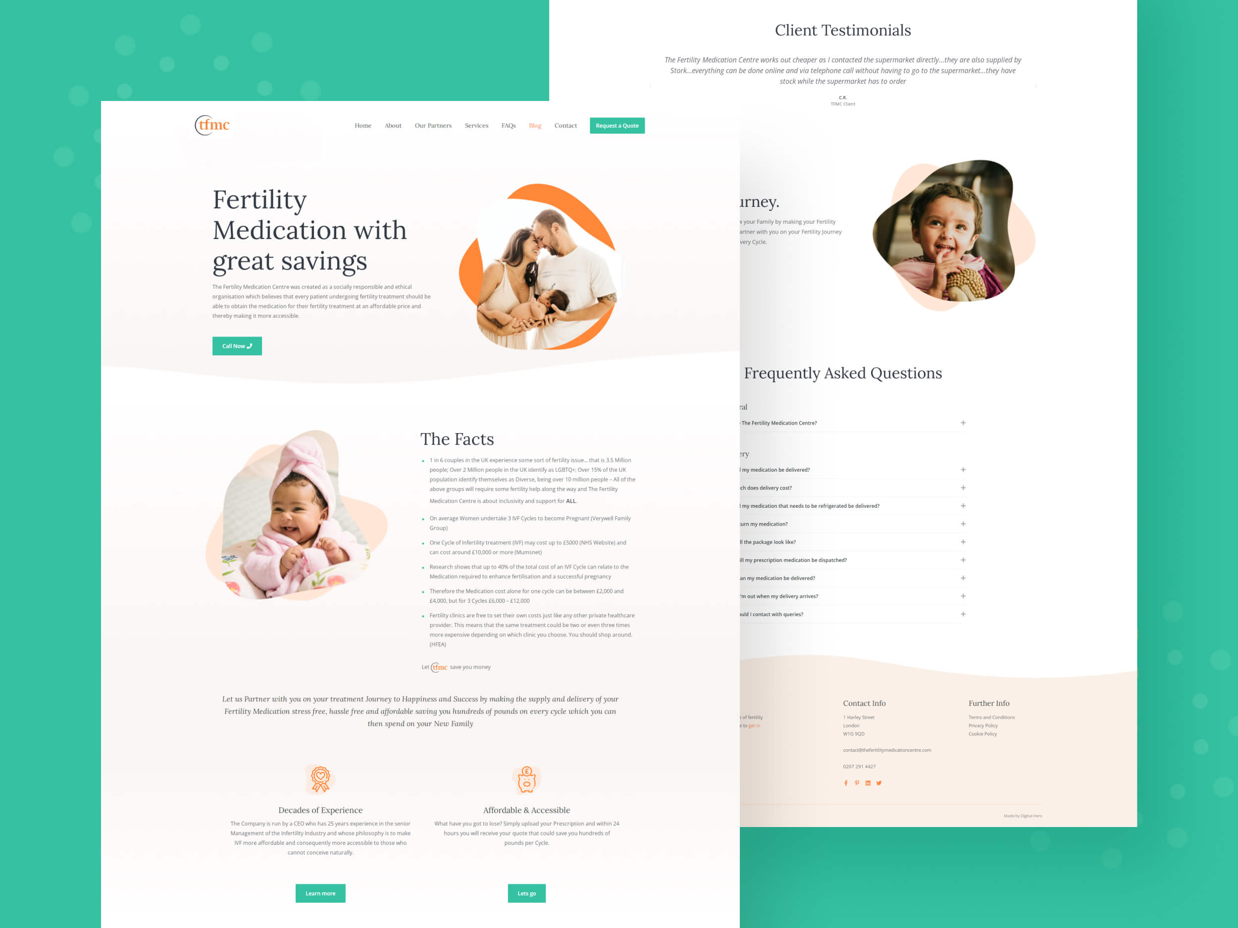 The Fertility Medication Centre web design