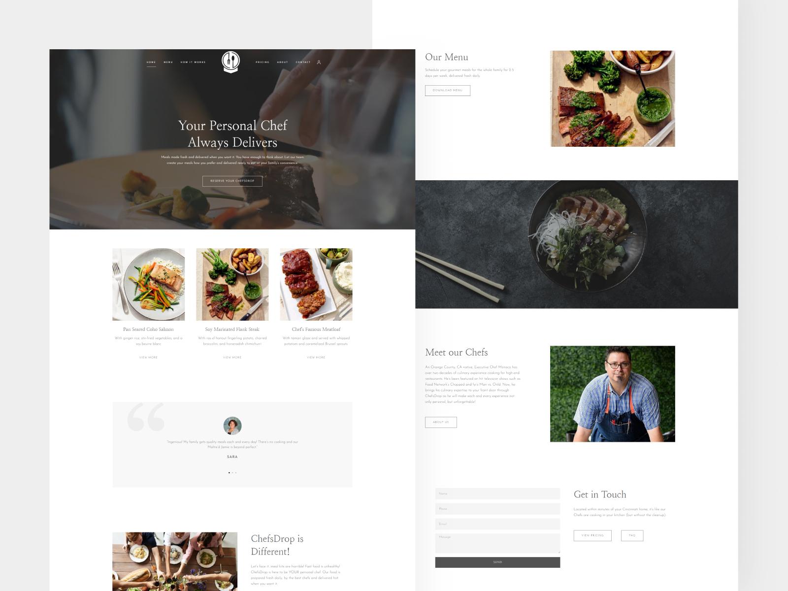 Chefsdrop Website Design and Development