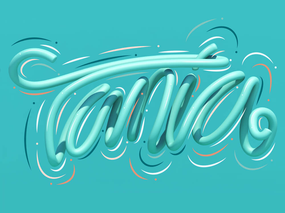 3D Typography Example 5