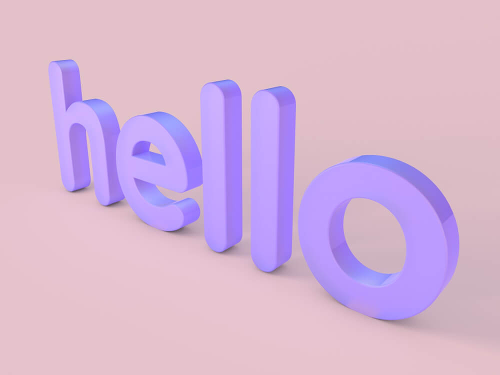 3D Typography Example 8