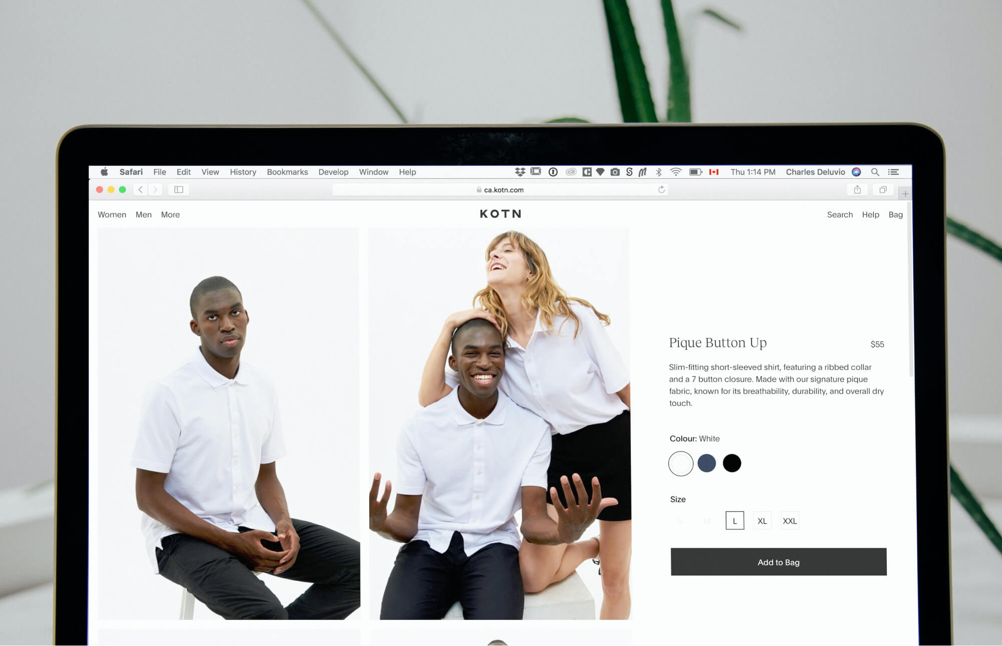 Ecommerce product example