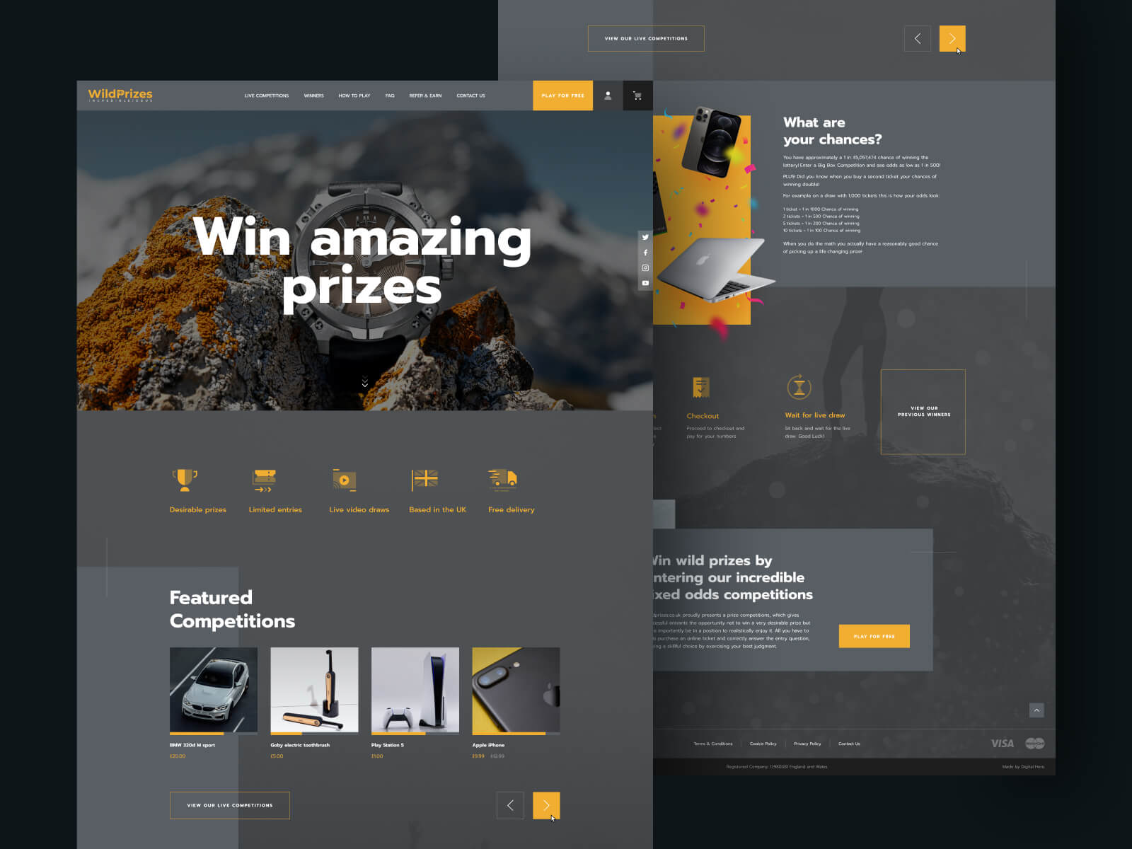Win amazing Prizes - WildPrizes Web