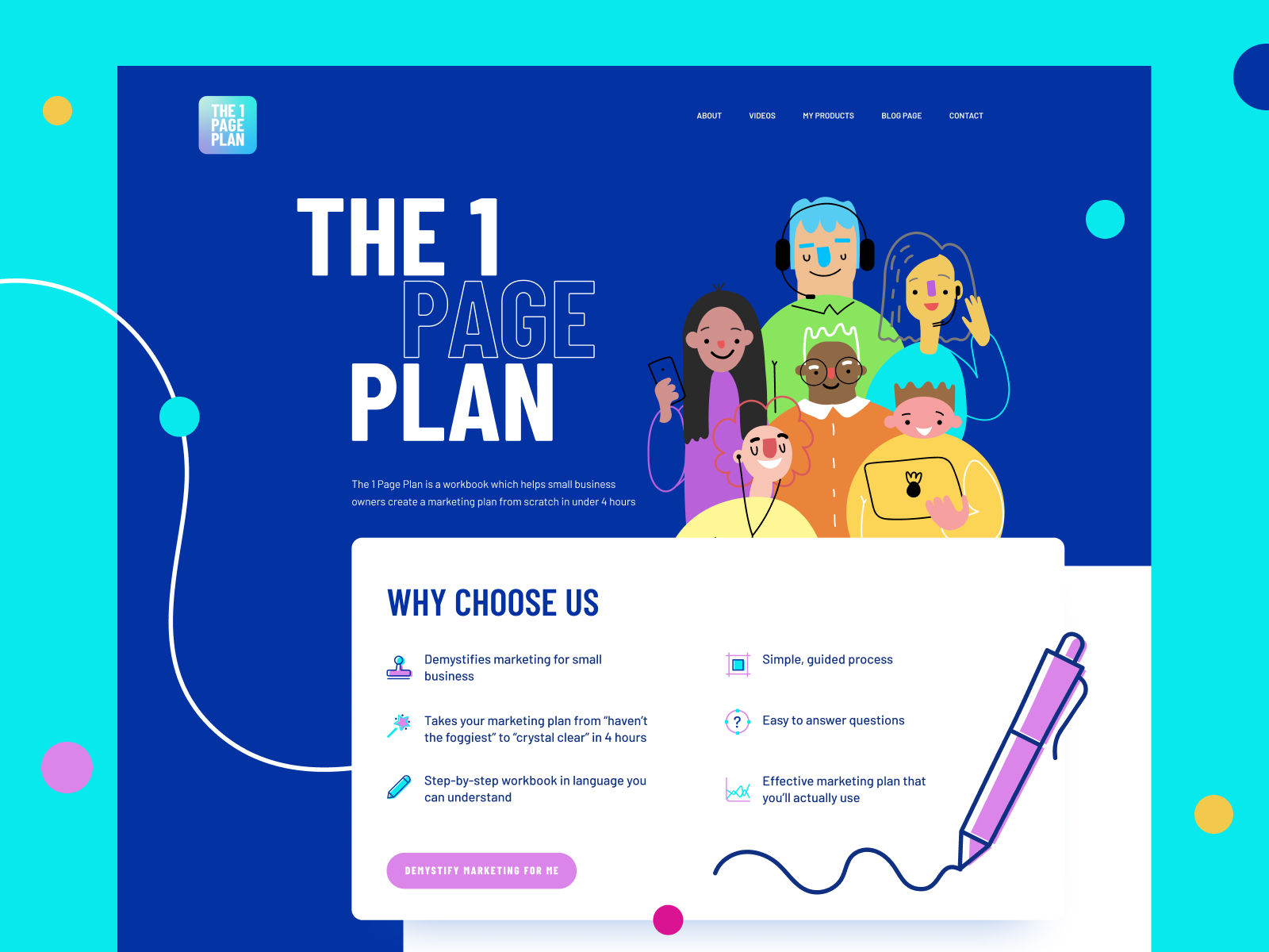 One Page Plan Website Design and Development