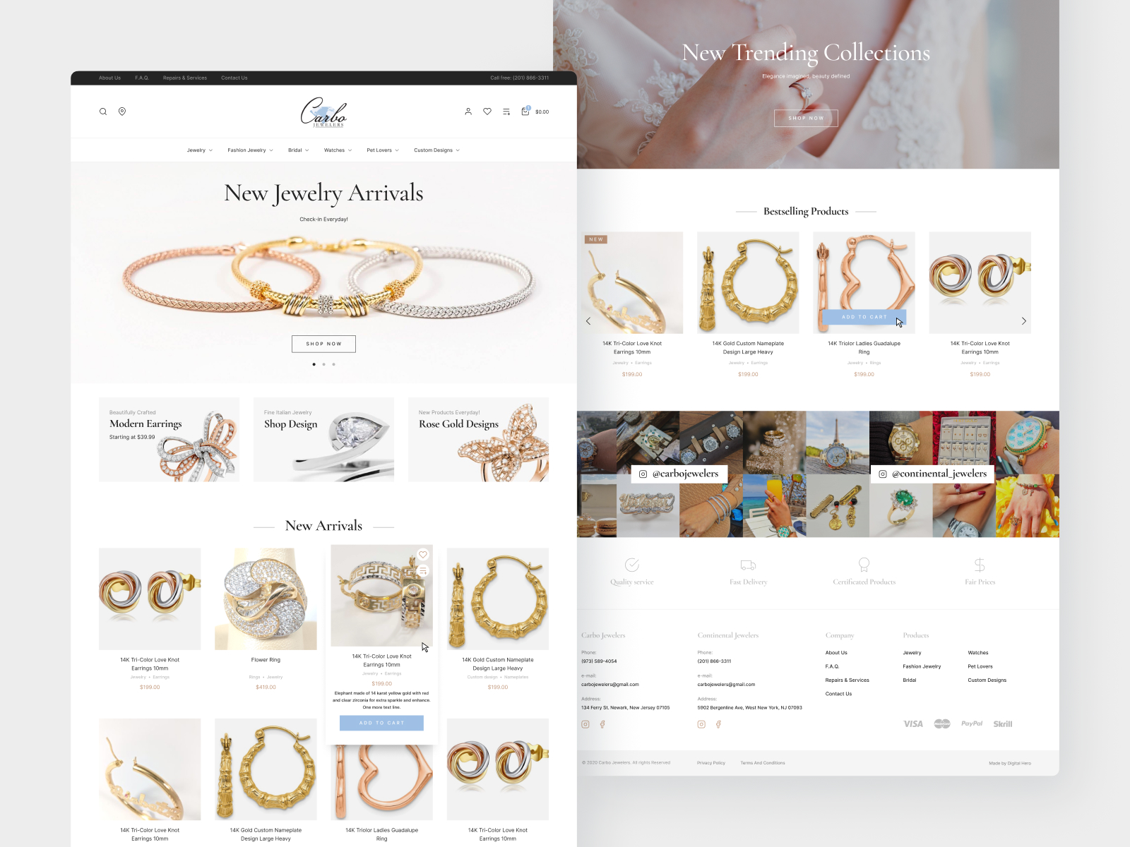 Carbo Jewelers Ecommerce Website Design and Development