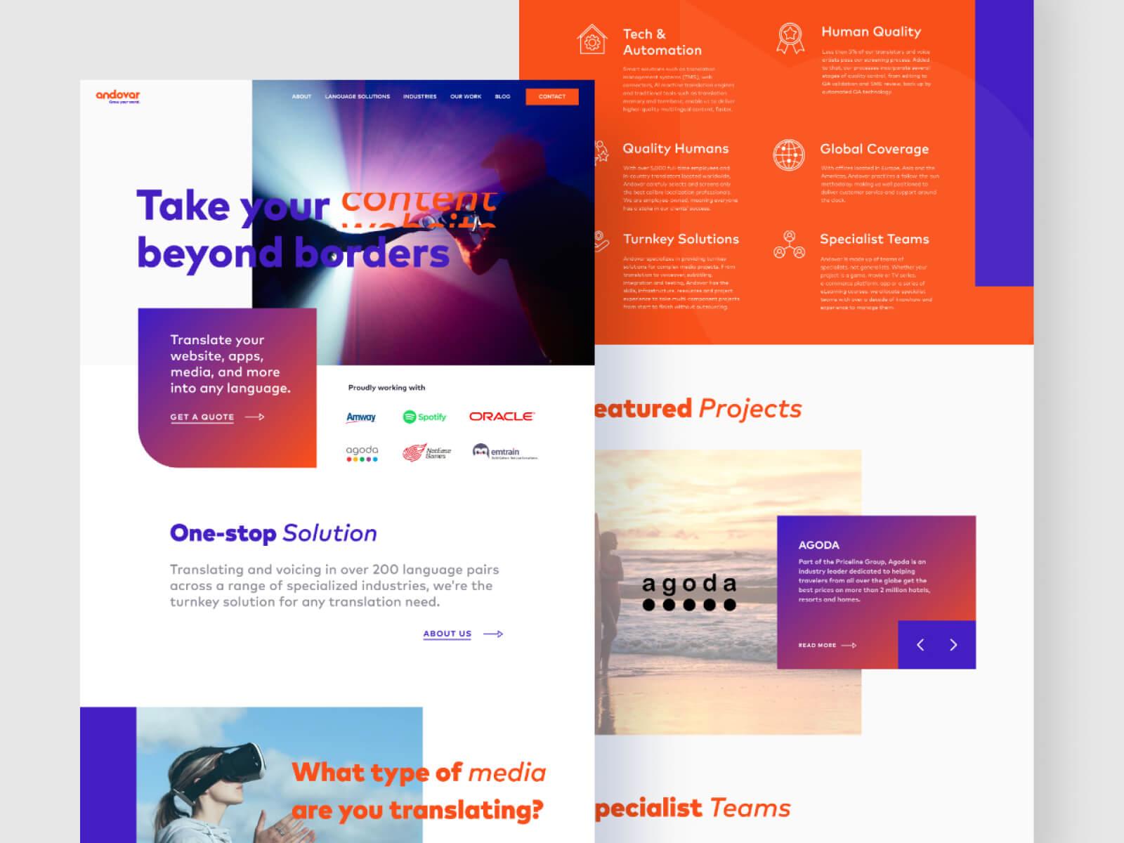 Andovar web design