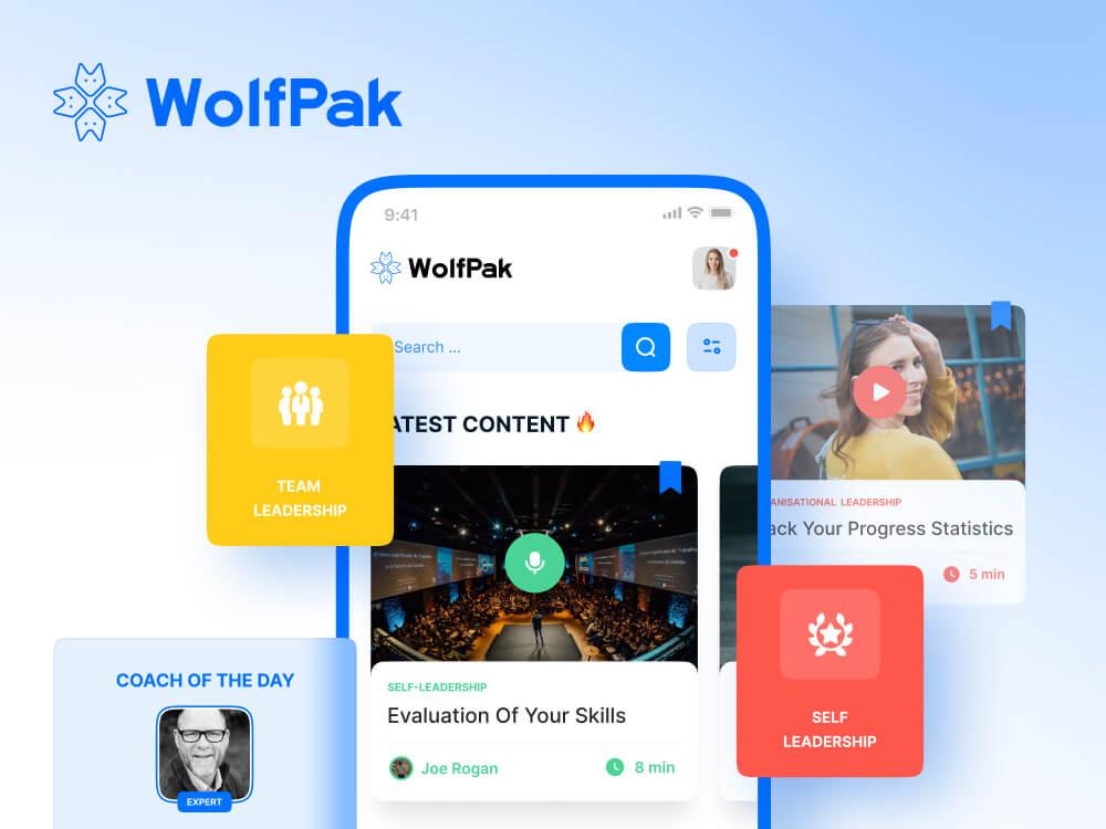 WolfPak app UIUX design cover